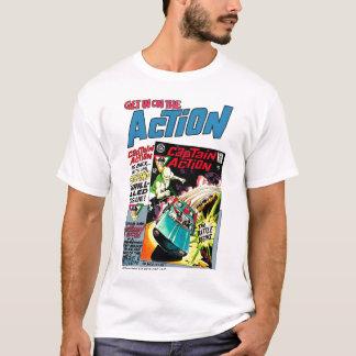 T clássico do anúncio da ação camisetas