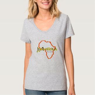 T conhecido africano do V-pescoço da mulher T-shirt
