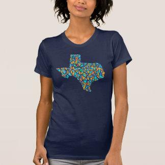T customizável da aguarela de Texas do vitral T-shirt