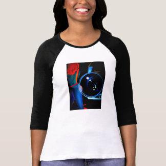 T da arte 3/4 do estilo do poster do anos 80 tshirts