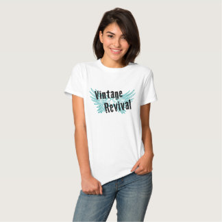 T da assinatura do renascimento do vintage tshirts