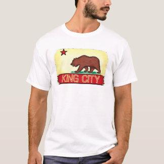 T da bandeira do estado das caras do rei Cidade Camisetas