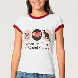 T da campainha da paleontologia do amor da paz camiseta