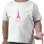 T da criança de Paris Camisetas