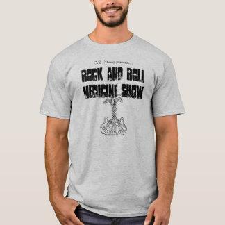 T da mostra da medicina do rock and roll camiseta