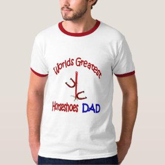 T das campainhas dos pais das ferraduras de camiseta