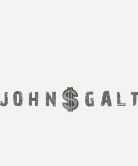 T de John Galt com sinal de dólar afligido Camiseta
