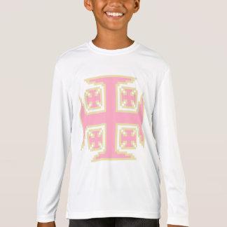 T de Longsleeve do Esporte-Tek das meninas Camiseta