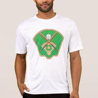 T do Active dos homens do campo de basebol T-shirts