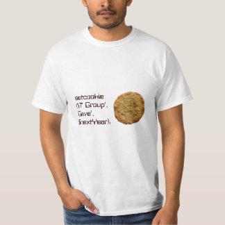 T do biscoito do geek do computador de Setcookie T-shirts