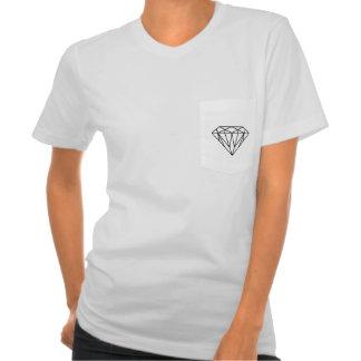 T do bolso do diamante camiseta