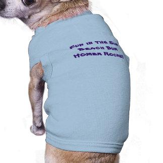 T do cachorrinho do vagabundo da praia camisa sem mangas para cachorro