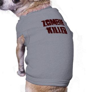 T do cão do ASSASSINO do ZOMBI Camisa Sem Mangas Para Cachorro