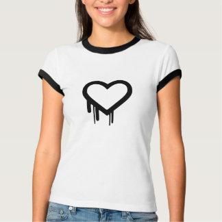 T do coração de sangramento camisetas