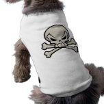 T do crânio e do Doggy dos Crossbones Roupa Para Cães