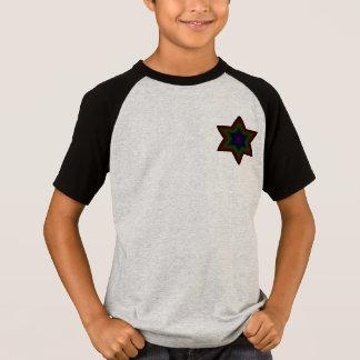 T do jérsei do 2-Button dos meninos escuros de T-shirt