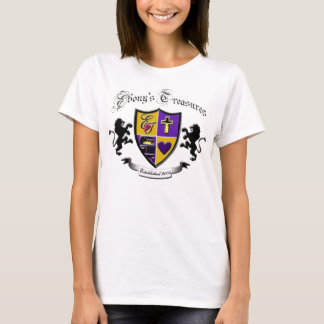 T do logotipo dos tesouros do ébano camiseta