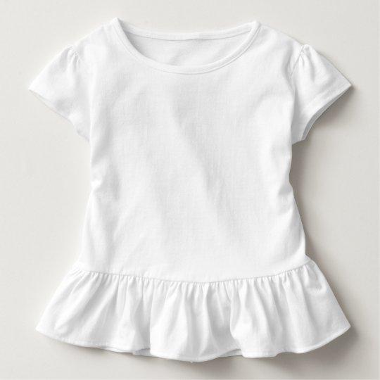 Camiseta Infantil com Babado, Branco