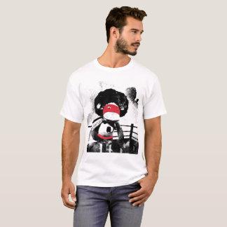 T handmade do gráfico do caráter do macaco da t-shirt