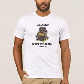 T impresso do robô Overlords bem-vindos T-shirt