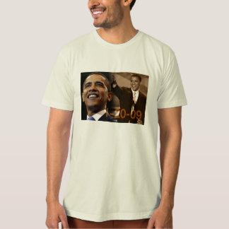 T orgânico Barack Obama 1-20-09 Camisetas