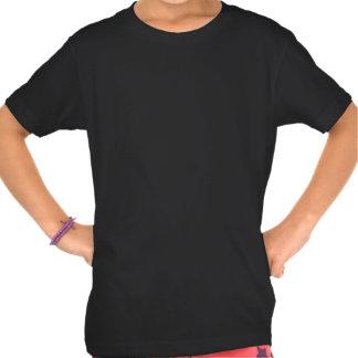 T orgânico personalizado do roupa americano pequen camisetas