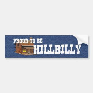 T orgulhoso ser Hillbilly Adesivo