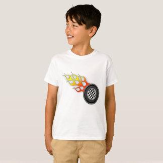 T quente das rodas dos miúdos camiseta
