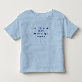 T sarcástico do carrinho de criança dos miúdos camisetas