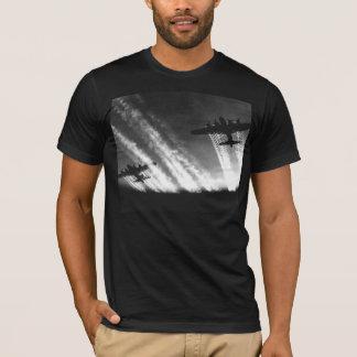 T-shirt 100% preto do algodão da fortaleza do vôo