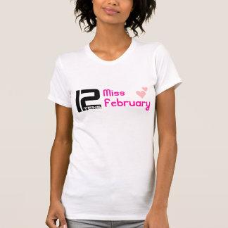 T-shirt 12tens T da senhorita fevereiro