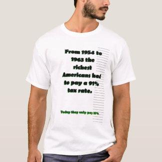 T-shirt 1954 a 1963 americanos os mais ricos pagaram a