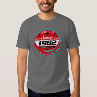 T-shirt 1982 do ano do nascimento