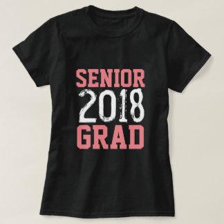 T-shirt 2018 superior do jérsei do formando