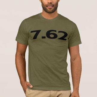 T-shirt 7,62 milímetros de munição da arma