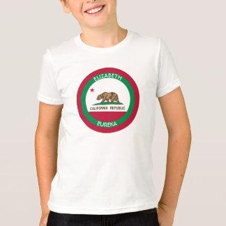 T-shirt A bandeira personalizada Califórnia do urso