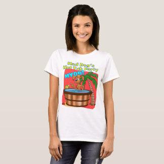 T-shirt A banheira de hidromassagem do cão louco