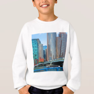T-shirt A cidade Landcape urbano de Boston eleva-se