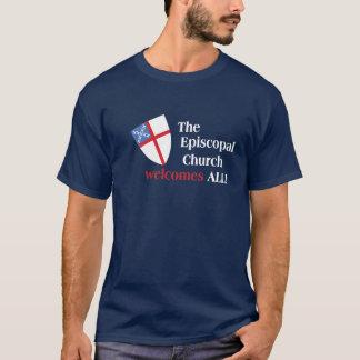 T-shirt A igreja episcopal dá boas-vindas a tudo