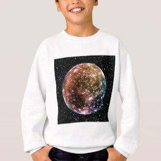 T-shirt A LUA de JUPITER do PLANETA - fundo 2 da estrela