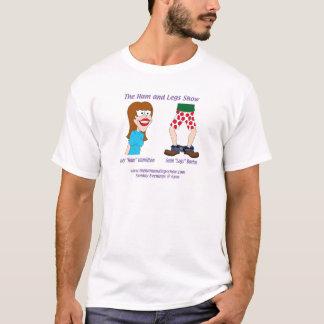 T-shirt A mostra do presunto e de pés