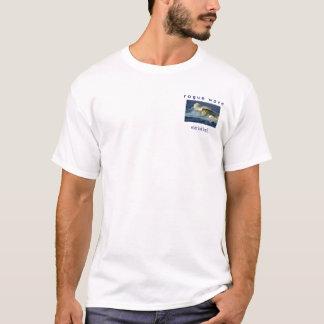 T-shirt a onda desonesto    nunca olha para trás…
