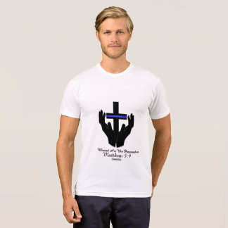 T-shirt Abençoou a bobina do cristão do 5:9 de Matthew dos