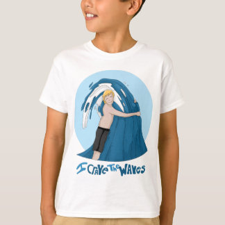 T-shirt Abrace uma onda