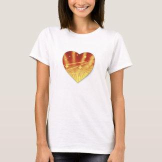 T-shirt abstrato do coração