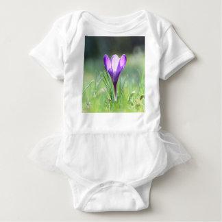 T-shirt Açafrão roxo no primavera