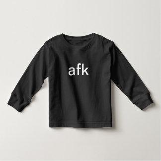T-shirt afk - longe do teclado no texto branco