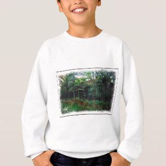 T-shirt Aguarela abandonada do celeiro e da escova