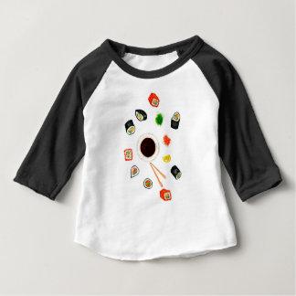 T-shirt Aguarela ajustada do sushi