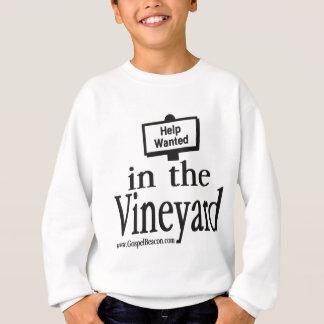 T-shirt Ajuda querida no vinhedo